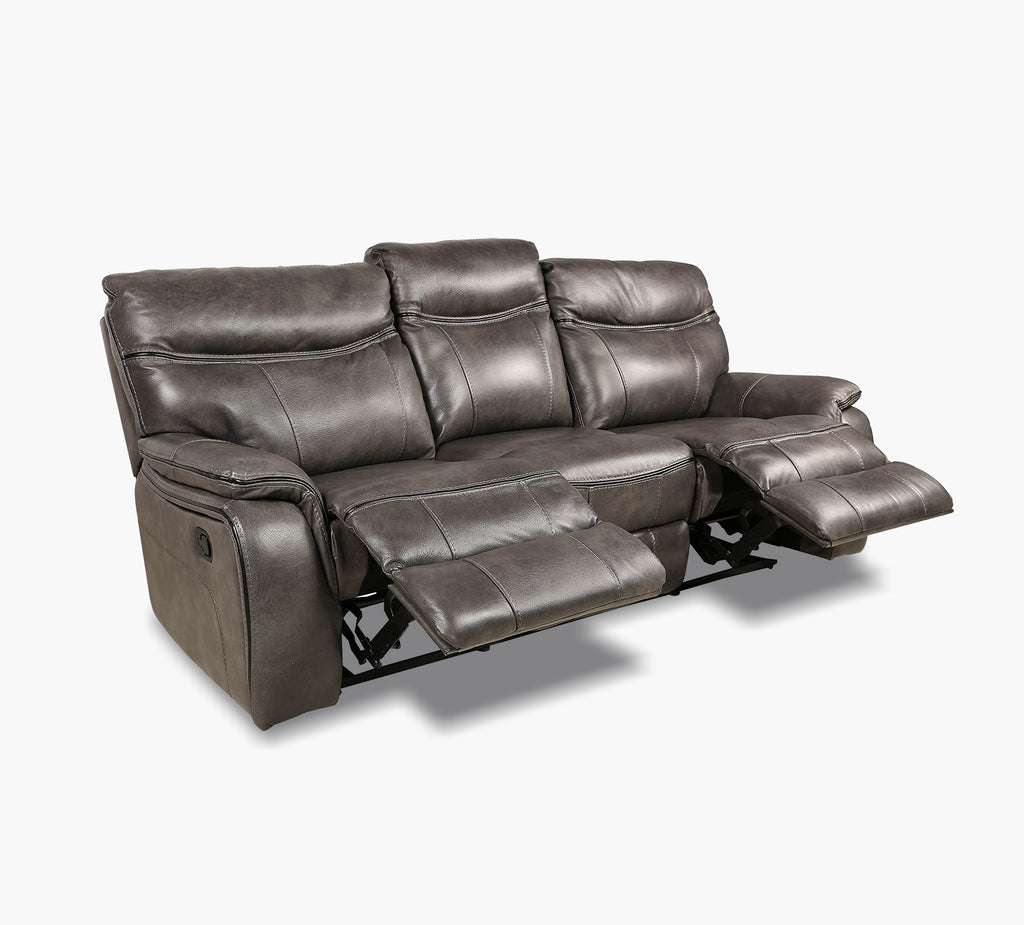 Fabulous Fentress Grey Leather Reclining Sofa Forskolin Free Trial Chair Design Images Forskolin Free Trialorg