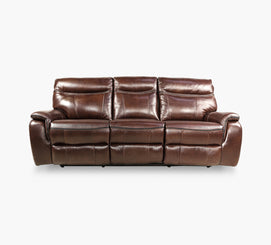 Remarkable Fentress Brown Leather Power Reclining Sofa With Power Headrest Forskolin Free Trial Chair Design Images Forskolin Free Trialorg