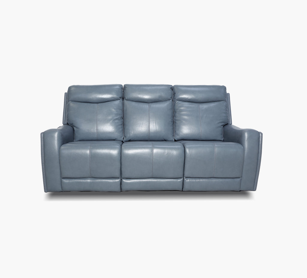 Torino Celestial Leather Triple Power Reclining Sofa
