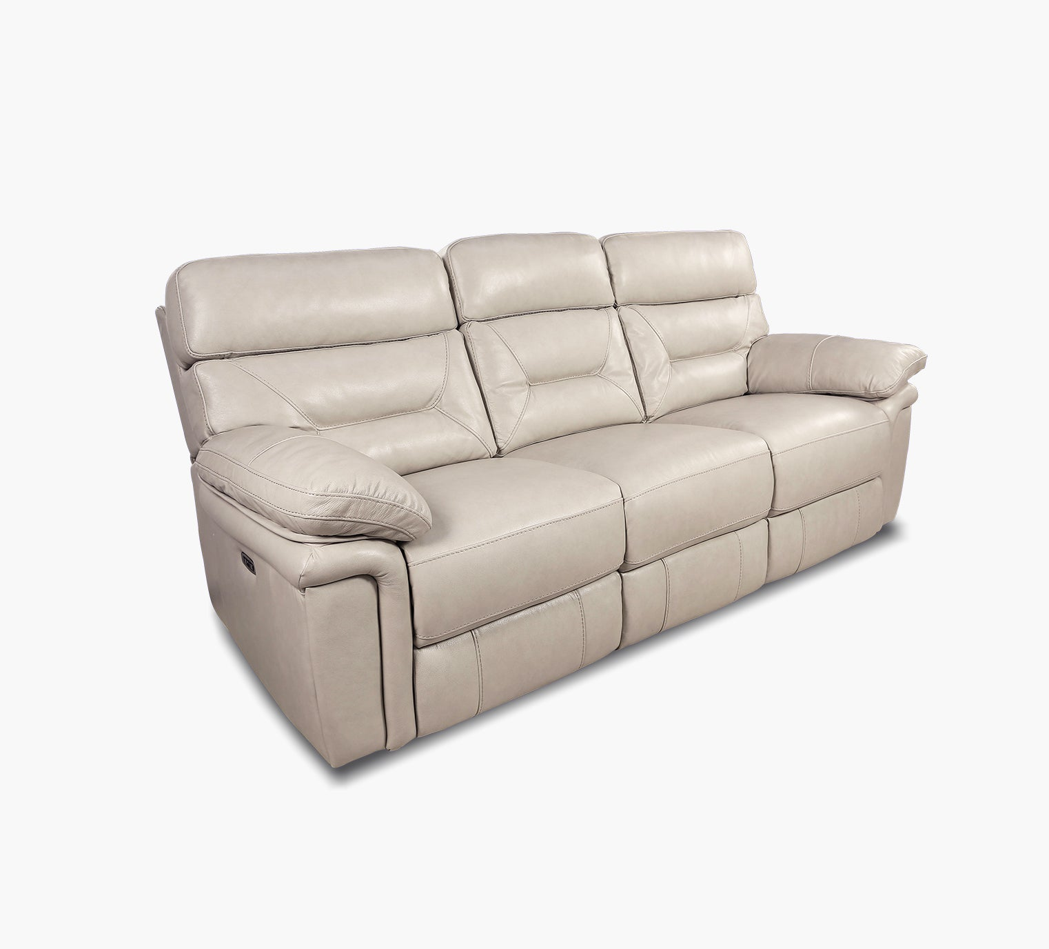 Genesis Ii Pearl Leather Power Reclining Sofa With Power