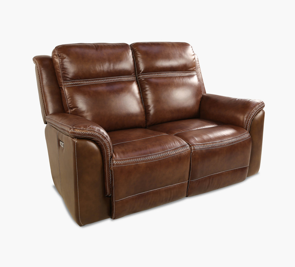 Sequoia Power Reclining Leather Loveseat With Power