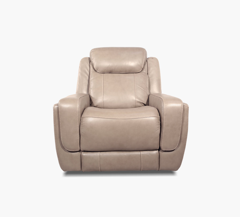Woodford Fawn Leather Triple Power Recliner Kane S Furniture