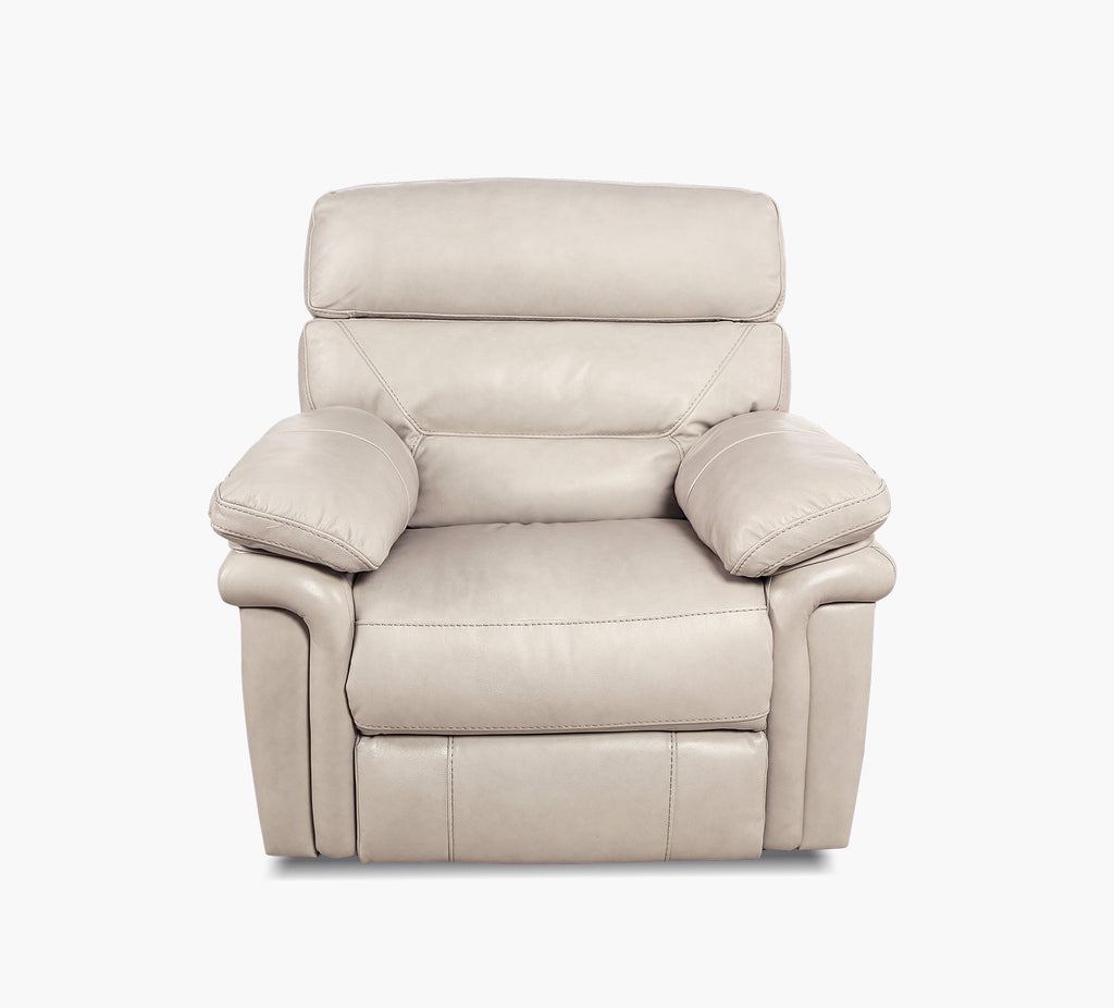 Genesis Ii Pearl Leather Power Recliner With Power