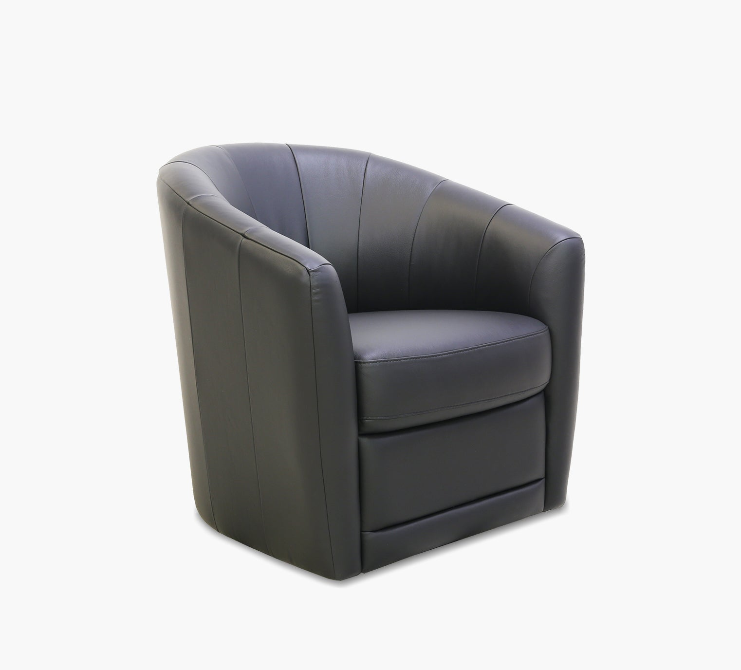 Picture of: Lambro Black Leather Swivel Chair Kane S Furniture