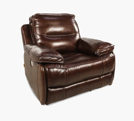 Del Rio II Power Leather Recliner with Power Headrest