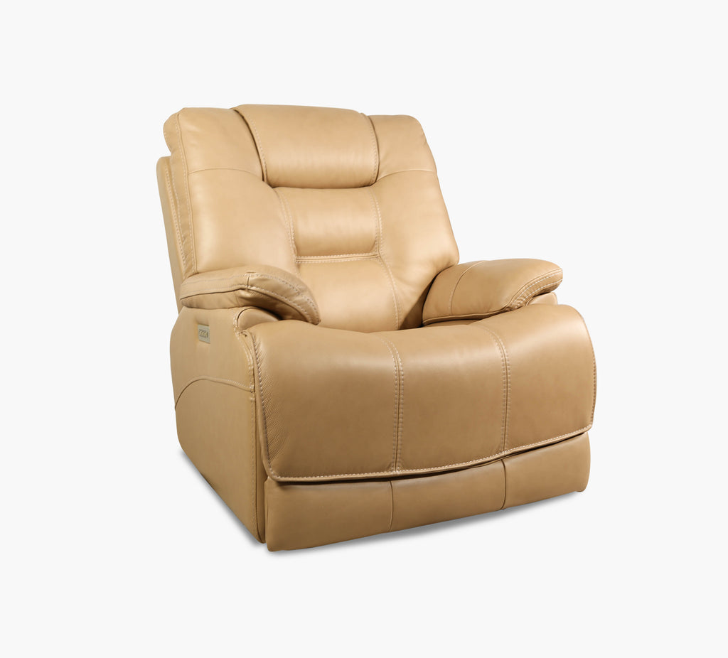 Zane Leather Power Recliner With Power Headrest Kane S