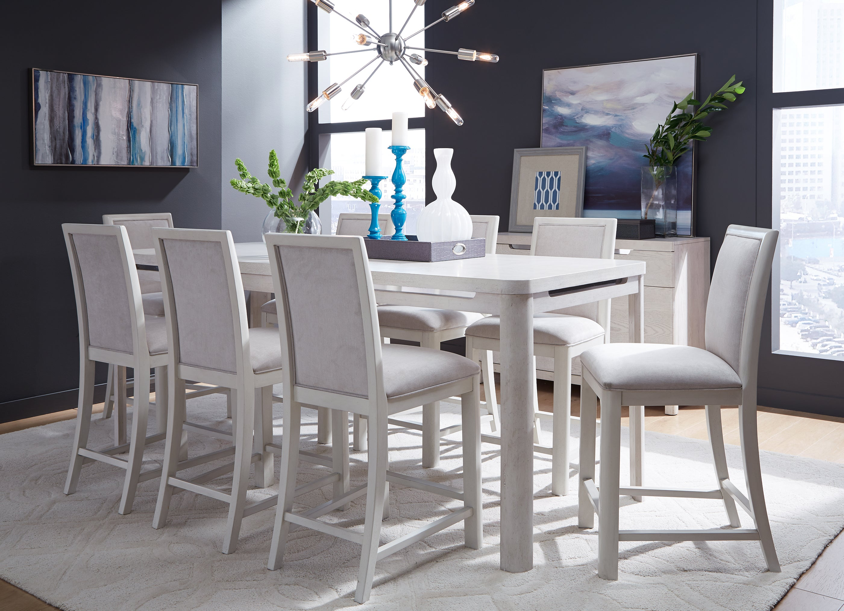 11 West 5 Piece Counter Height Dining Set Kane S Furniture