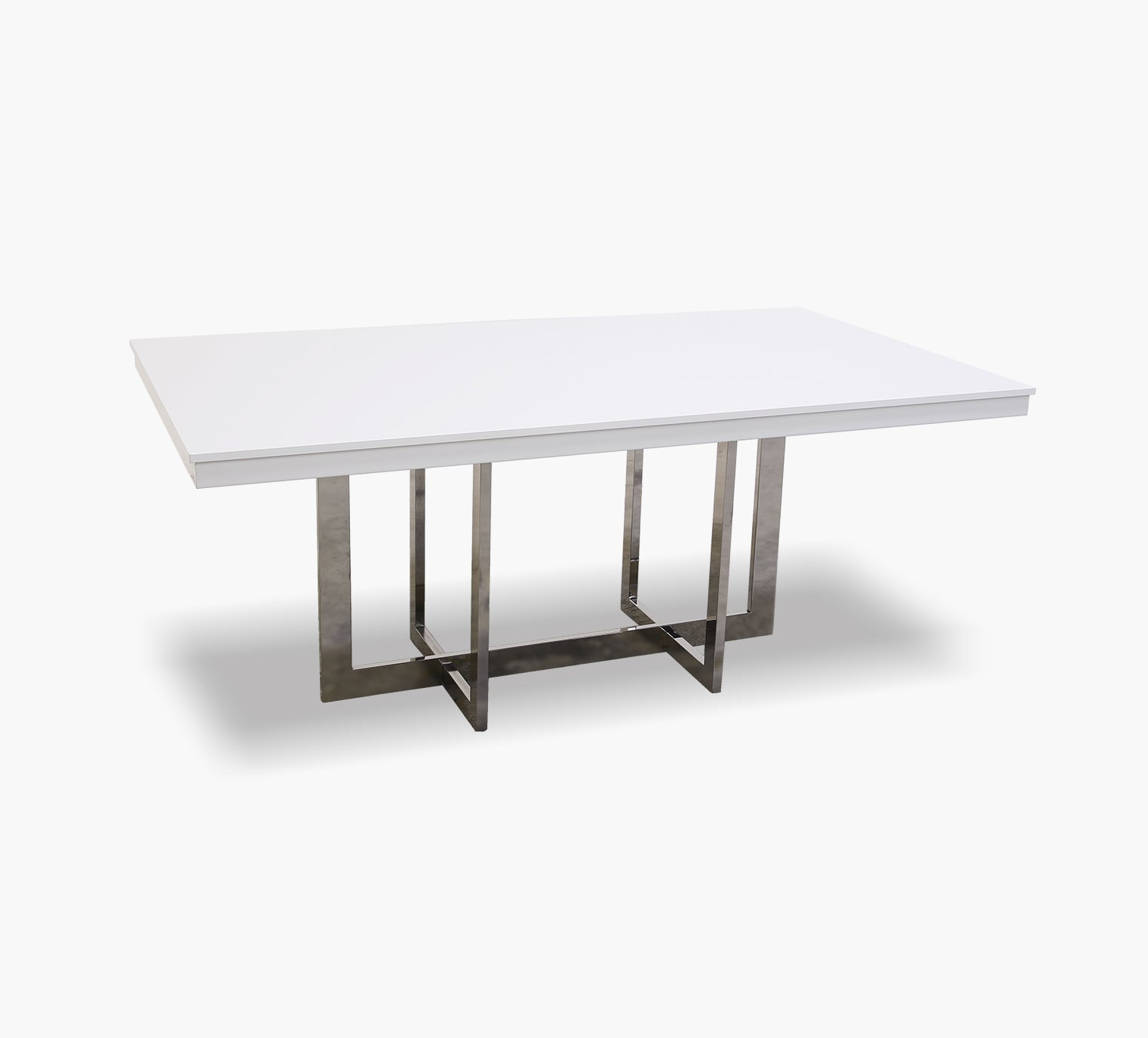 Dante White Rectangular Dining Table Kane S Furniture