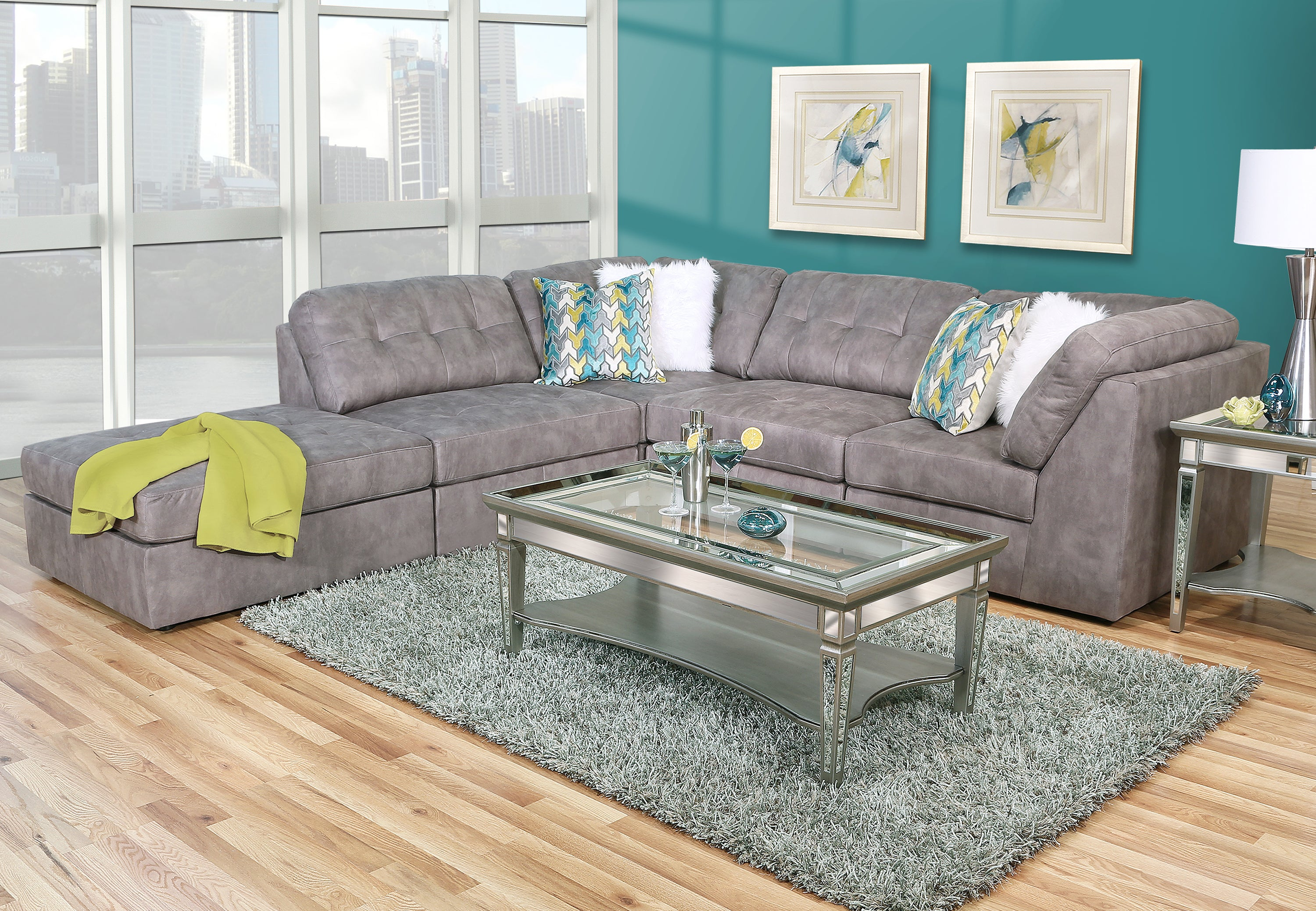 Caspian 7 Piece Sectional Living Room