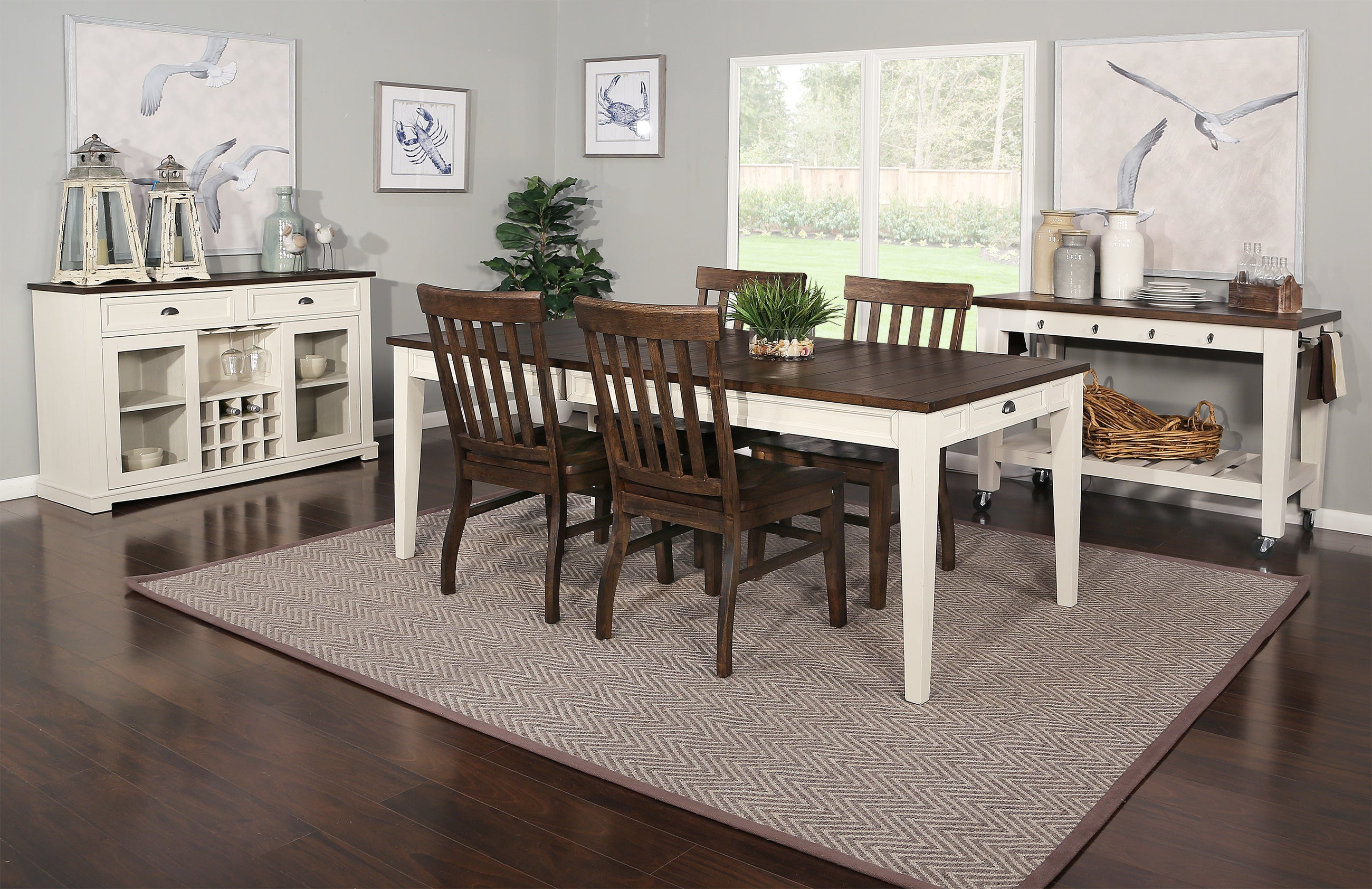 Cayla Two Tone 9 Piece Dining Set