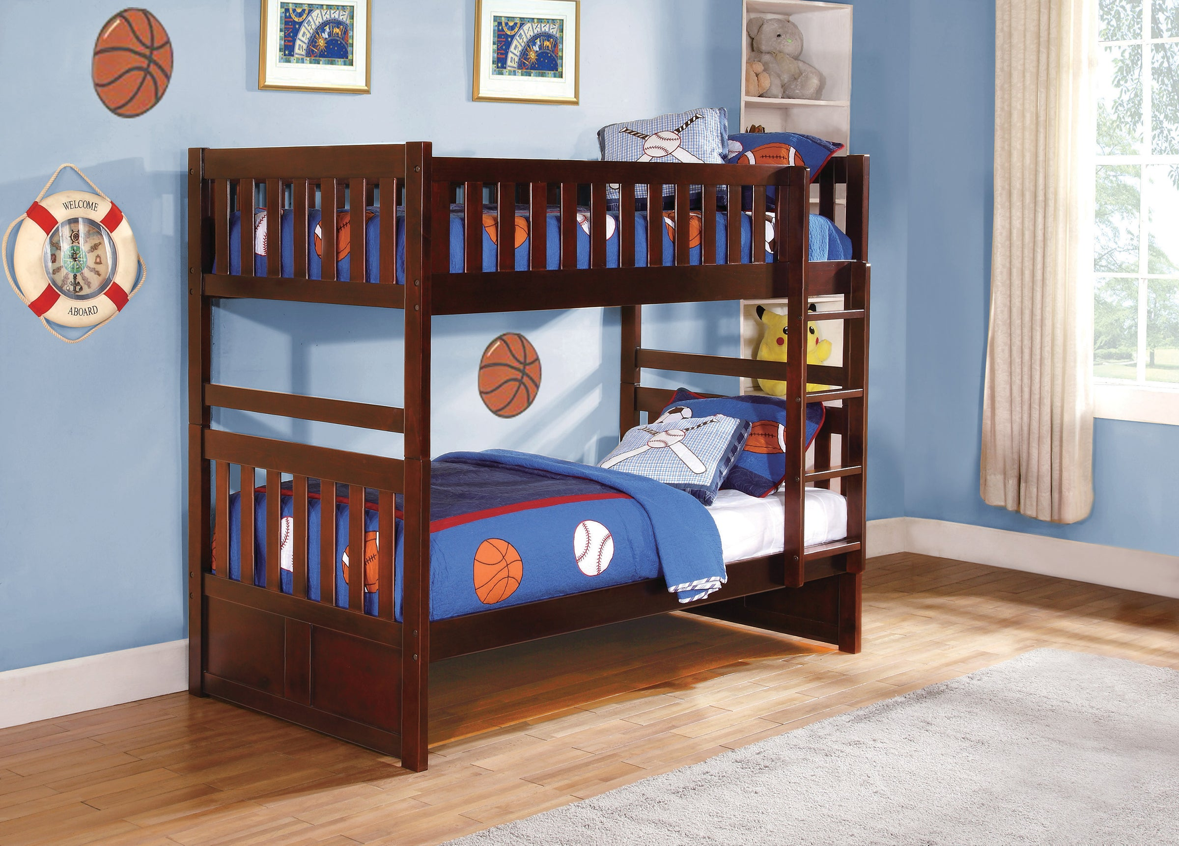 Galen Cherry Twin Over Twin Bunk Bed Kane S Furniture