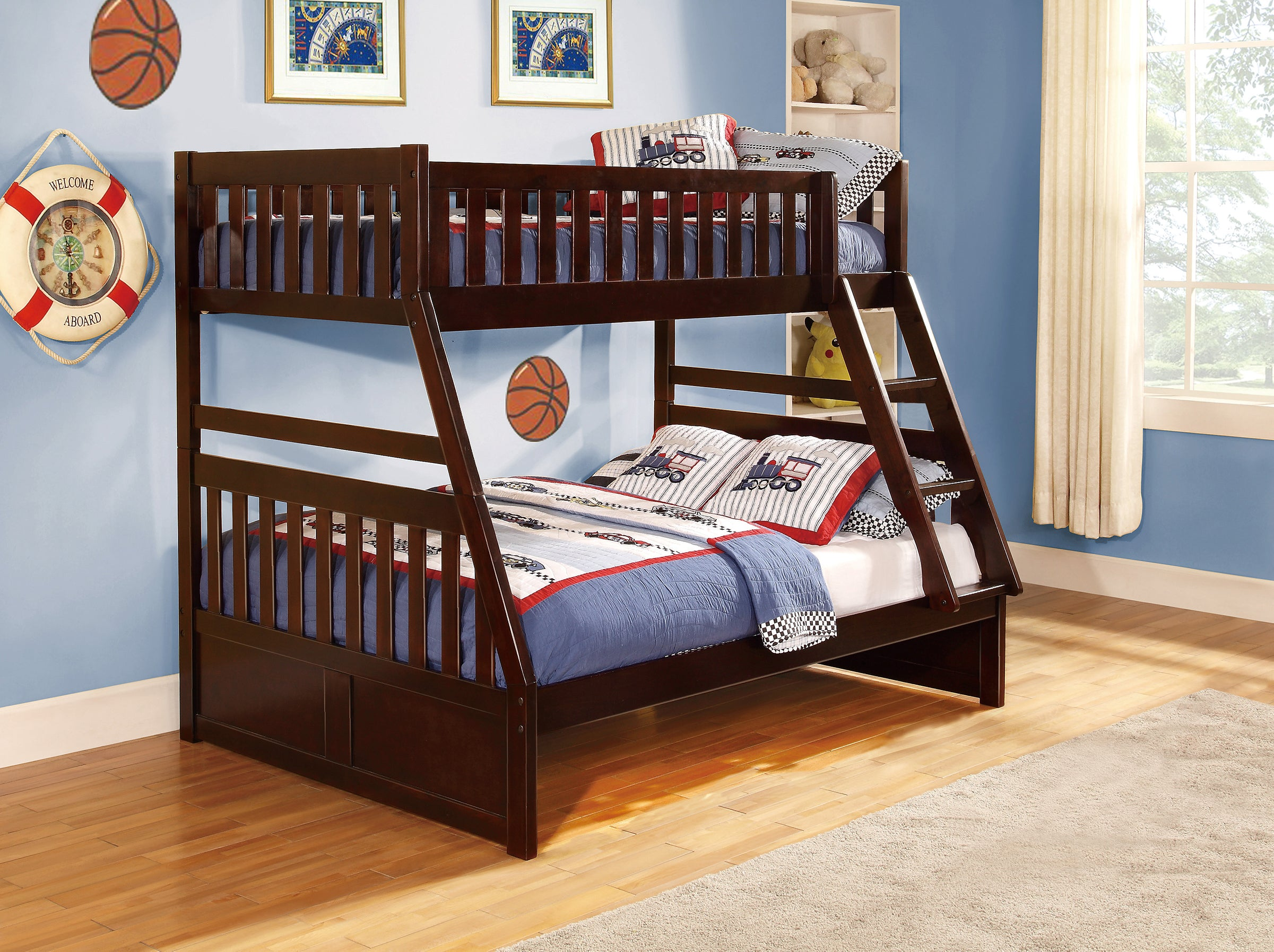 Galen Cherry Twin Over Full Bunk Bed Kane S Furniture