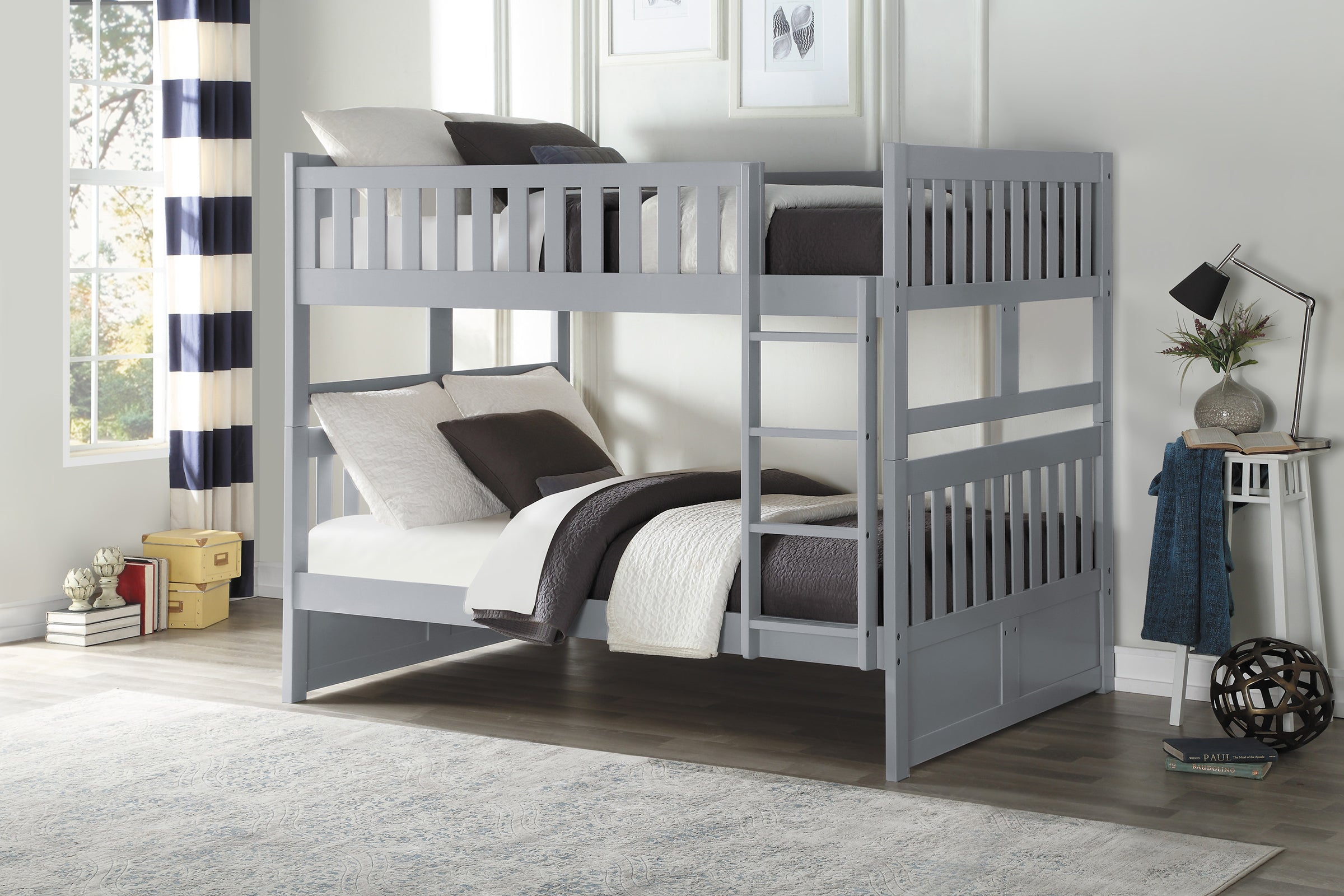 Galen Grey Full Over Full Bunk Bed Kane S Furniture