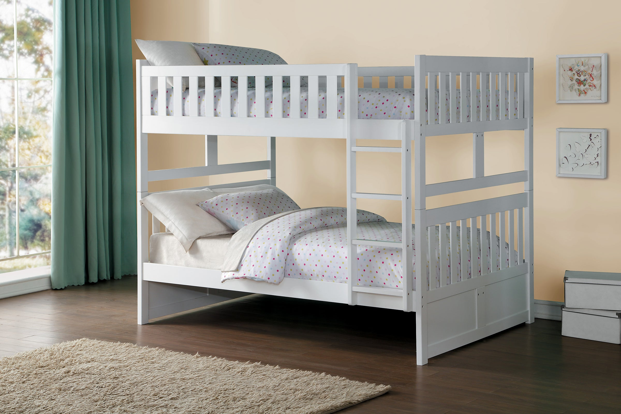 Galen White Full Over Full Bunk Bed Kane S Furniture