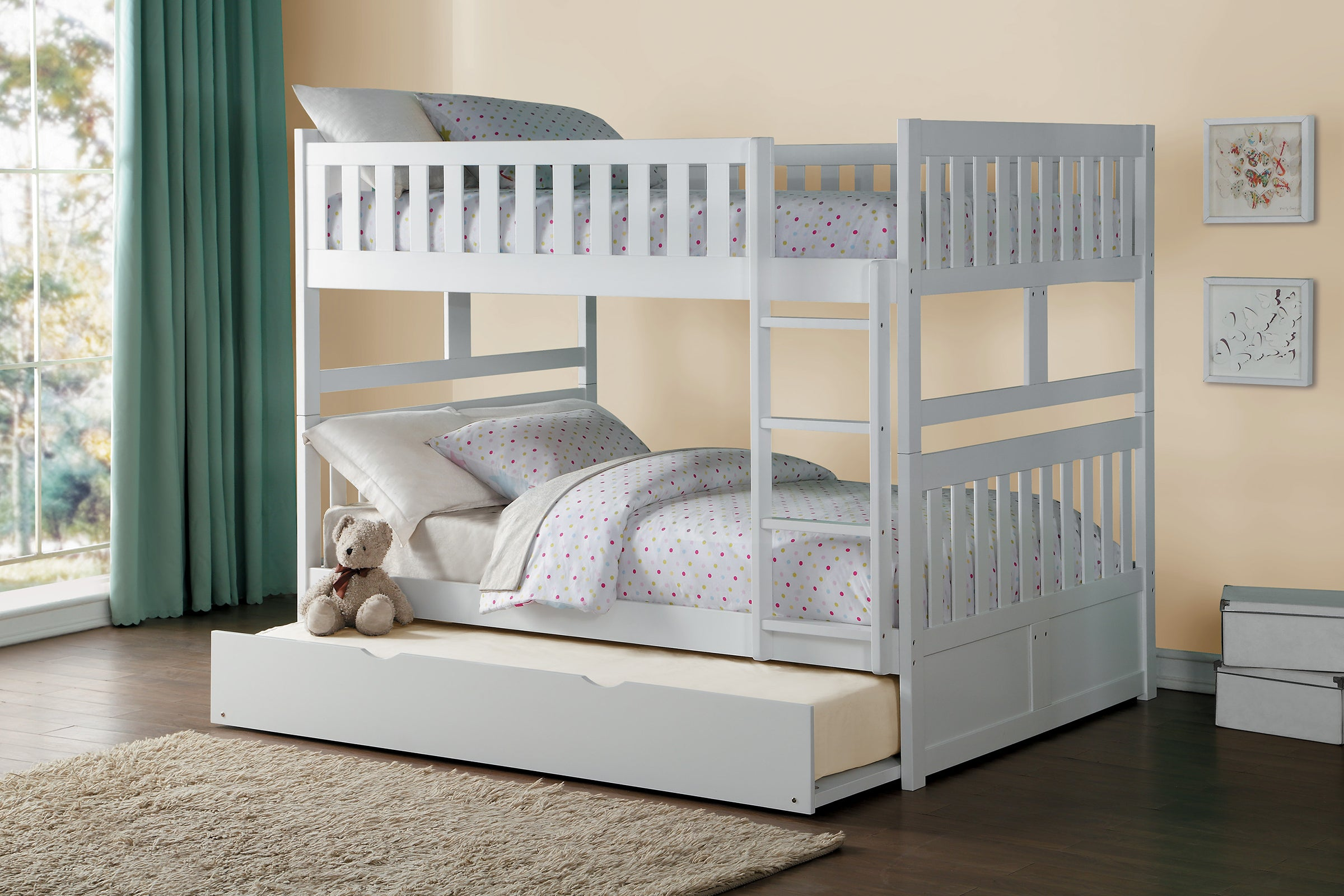 Picture of: Galen White Full Over Full Bunk Bed Kane S Furniture