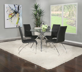 Astounding Genova 5 Piece Dining Set With Black Chairs Home Interior And Landscaping Ologienasavecom
