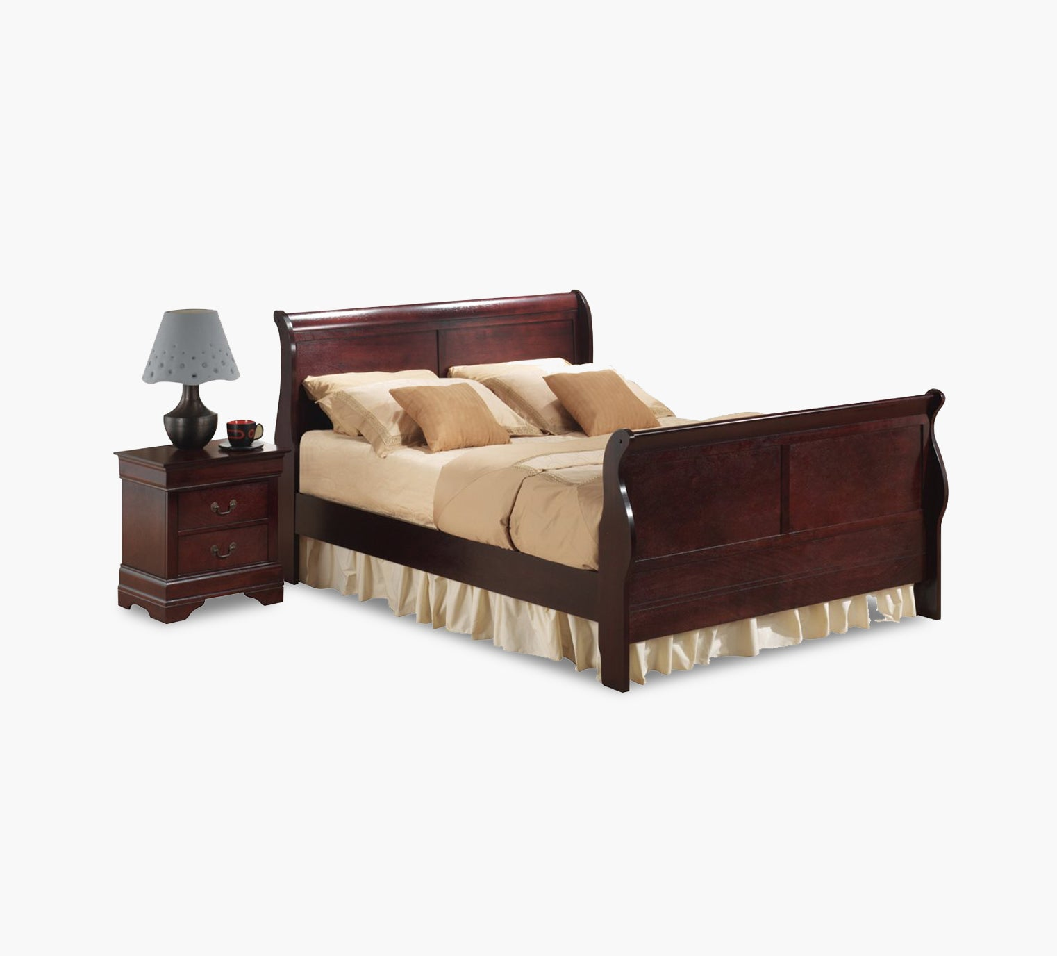 - Louis Queen Sleigh Bed - Kane's Furniture