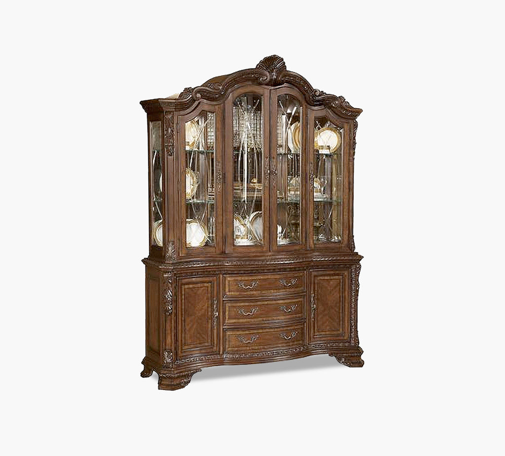 Old World 2 Piece China Cabinet Kane S Furniture