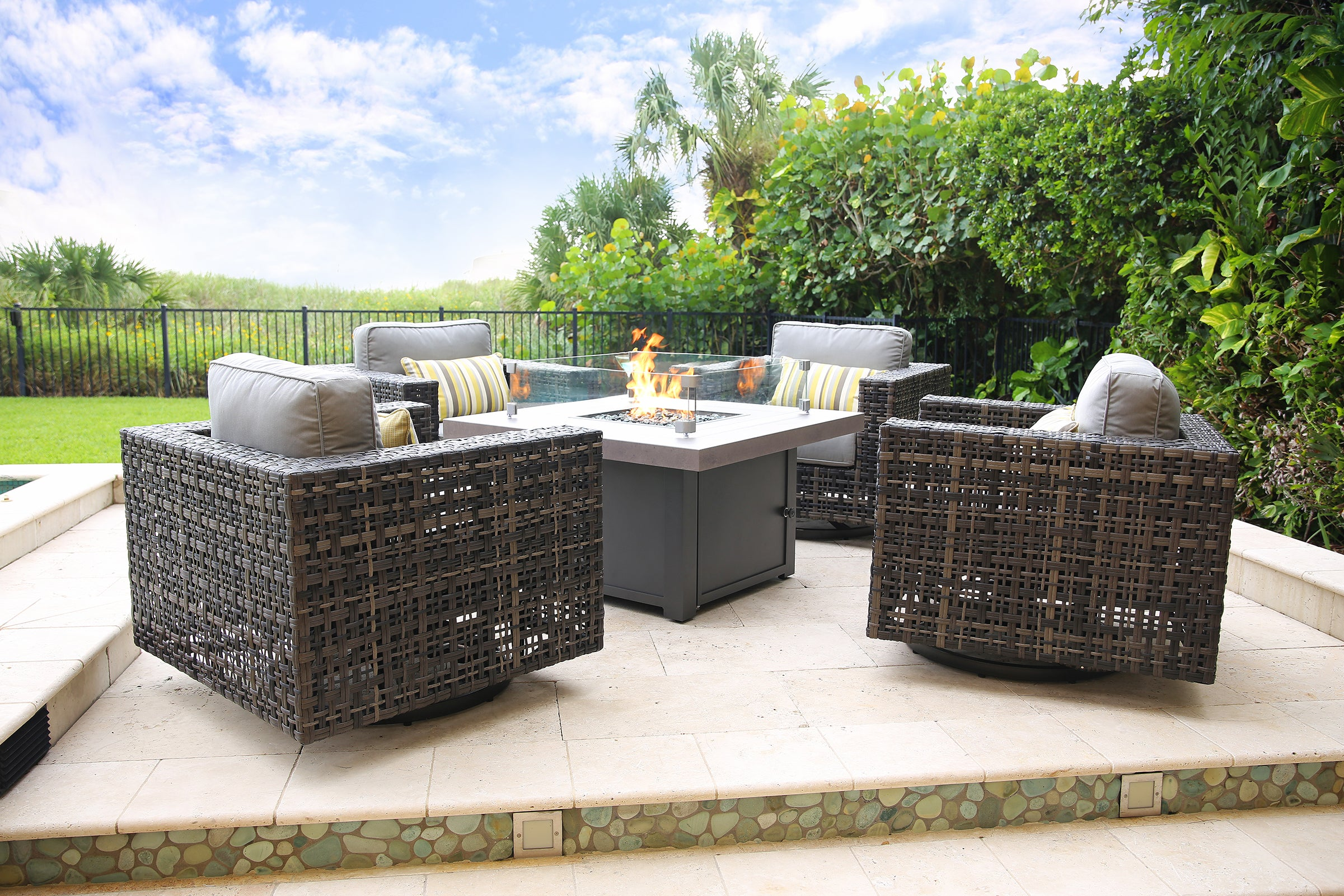 Image of: Provo 6 Piece Fire Pit Chat Set Kane S Furniture