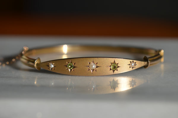 Elegant Edwardian Star-Set Bracelet