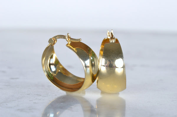 Juicy Round Gold Estate Hoops