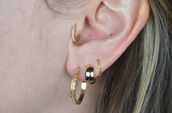 Braided Gold Estate Hoops
