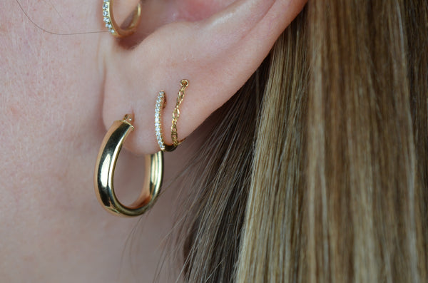 Glossy Light Weight Estate Hoops