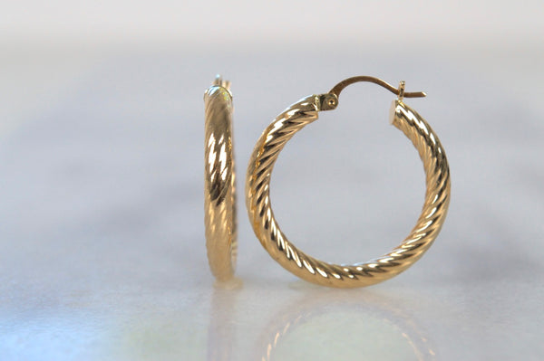 Easy Twisted Estate Hoops