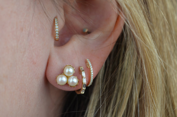 Bubbly Vintage Pearl Trilogy Studs