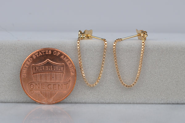 Sexy Estate Box Chain Hoops