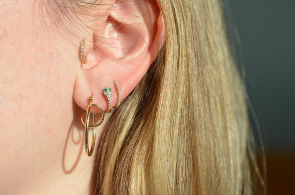 Swirling Vintage Double Hoops