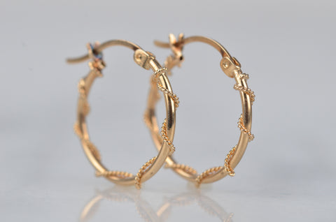 Nautical Vintage Rope Hoops