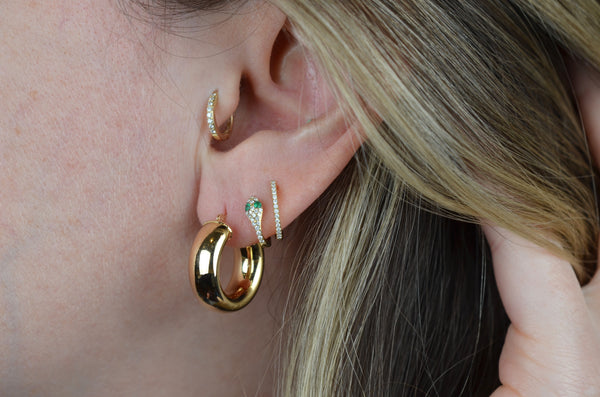 Glossy Chubby Vintage Hoops
