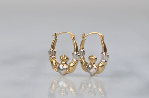 Sweet Vintage Claddagh Hoops