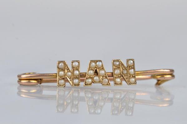 "Delicate Antique ""Nan"" Brooch"