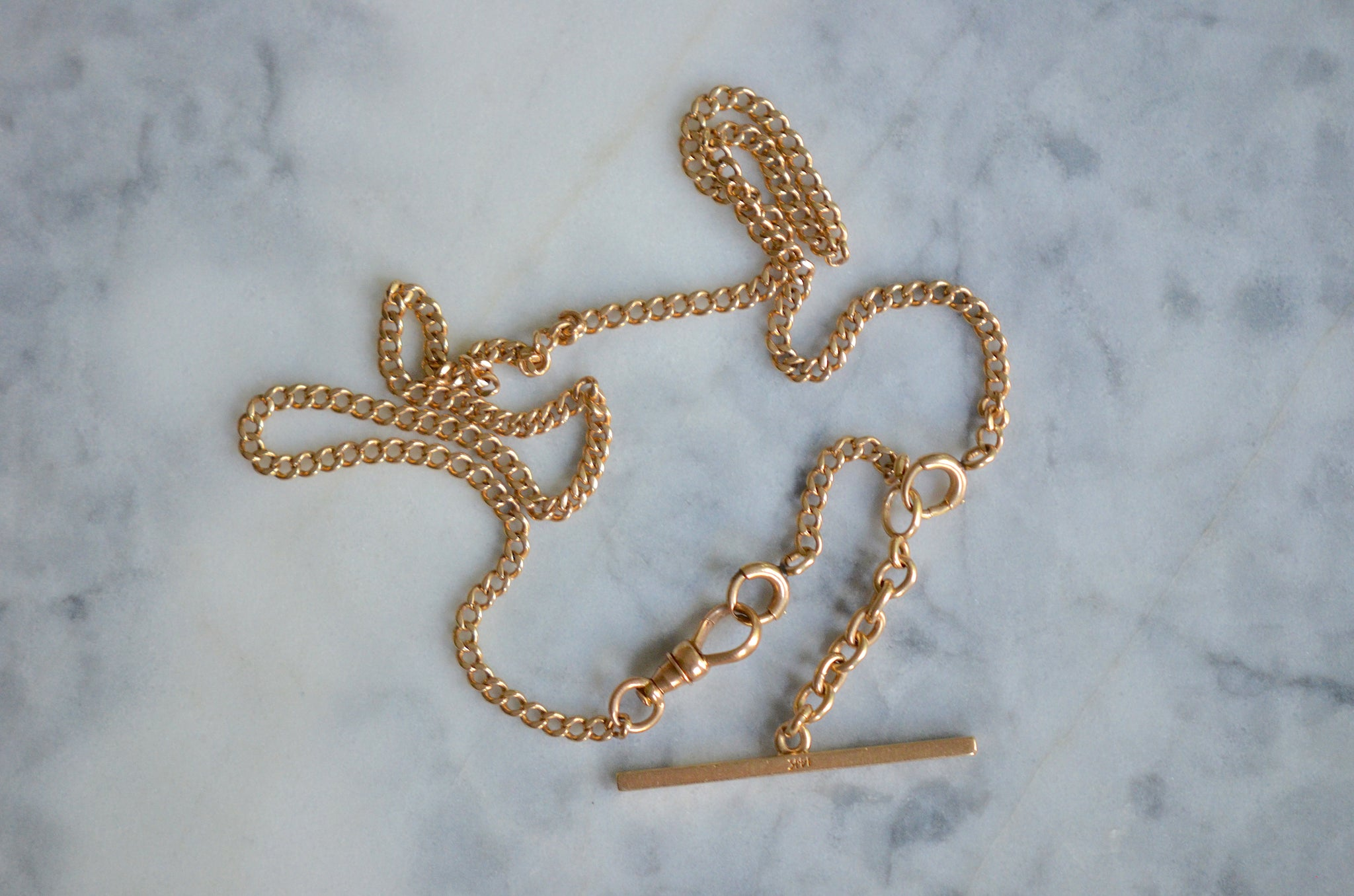 Versatile Antique Gold Watch Chain