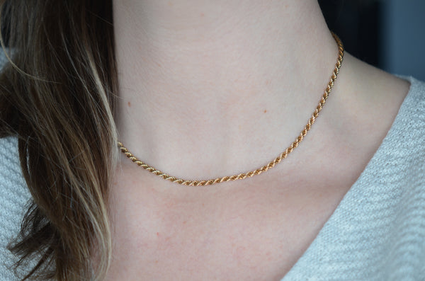 Warm Twisted Rope Chain Necklace