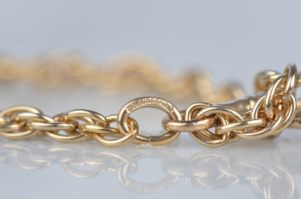 Bright Edwardian Gold-Fill Rope Chain