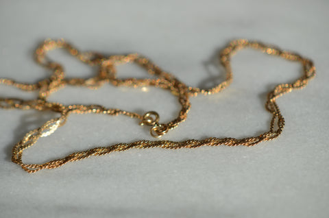 Slinky Braided Vintage Necklace