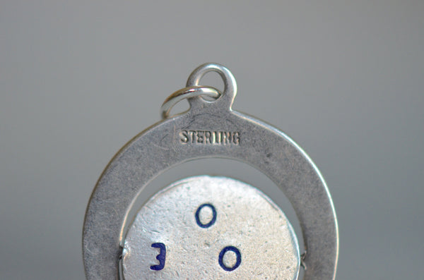 "Sterling Horseshoe ""I Love You"" Spinner Charm"