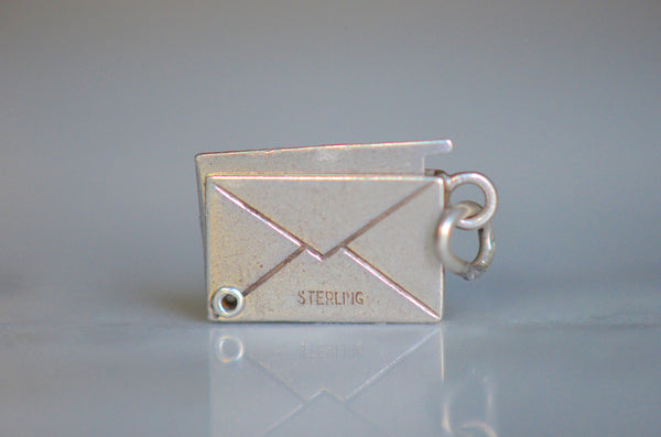 Vintage Sterling Report Card Charm