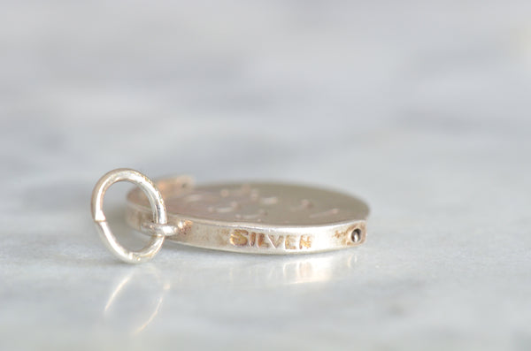 Good Luck Silver Spinner Charm