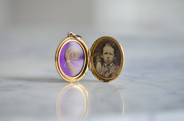Victorian Enamel Mourning Locket