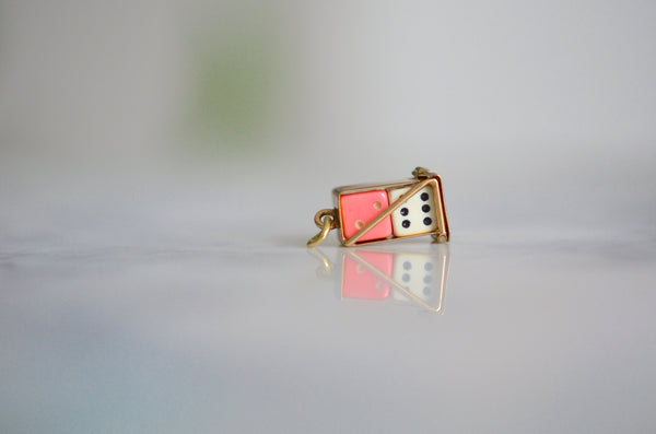 Vintage Moveable Dice Charm