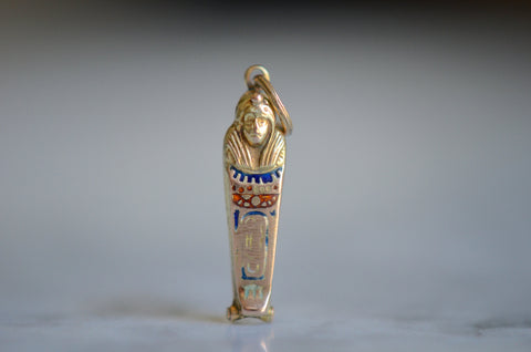 Gorgeous Gold Sarcophagus Charm