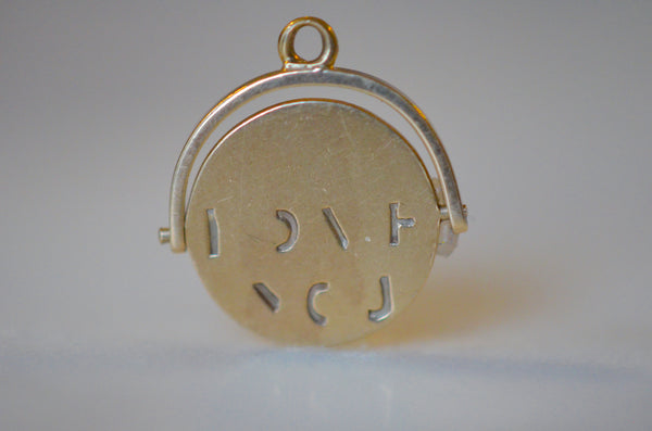 "Classic Gold ""I Love You"" Spinner Charm"