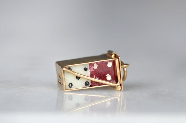 Playful Vintage Mini Dice Charm