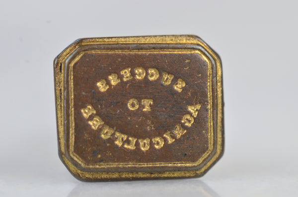 "Gilt ""Success To Agriculture"" Seal Fob"