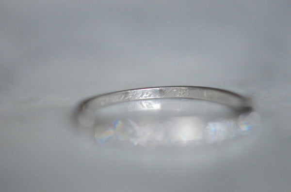 Delicate Retro Diamond Wedding Band June 15 1938
