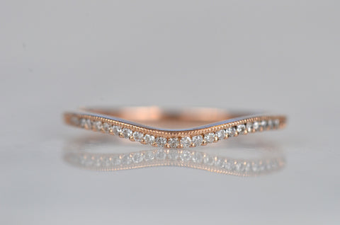 Dainty Dipped Estate Diamond Band